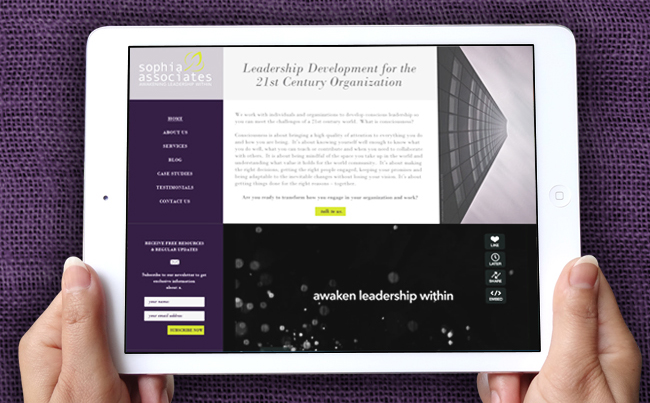 Website Design for a Global Collaborative of Professional Coaches & Consultants