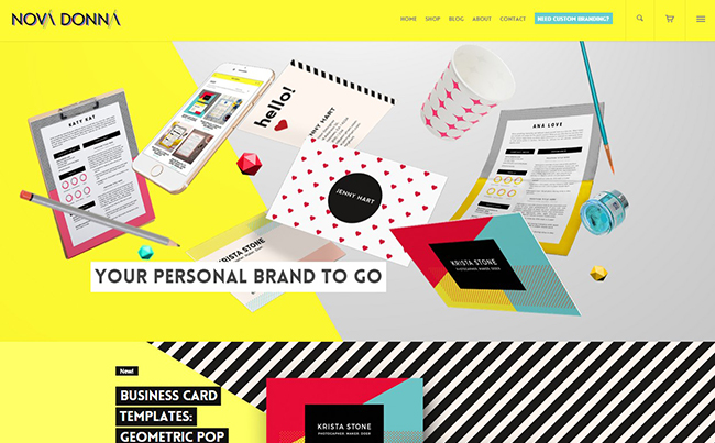 Website Design for Ready-Made Personal Branding Materials and Resources