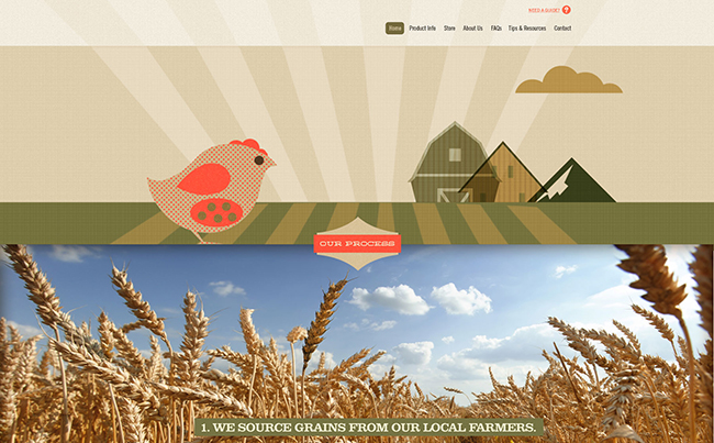 Responsive Website Design for an Animal Feed Company