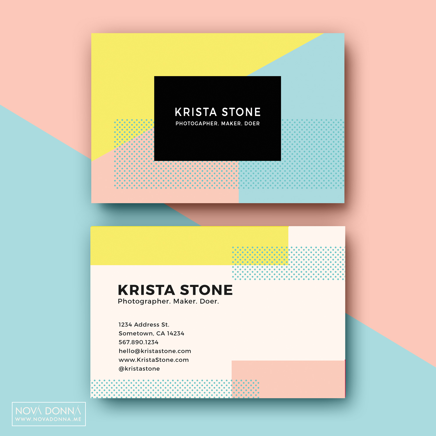 geometric-business-cards-pastel