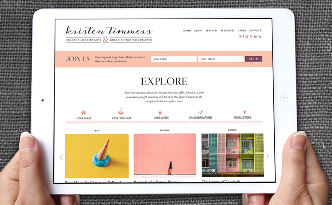 Website Design for an Exceptional Online Magazine for Entrepreneurial Women